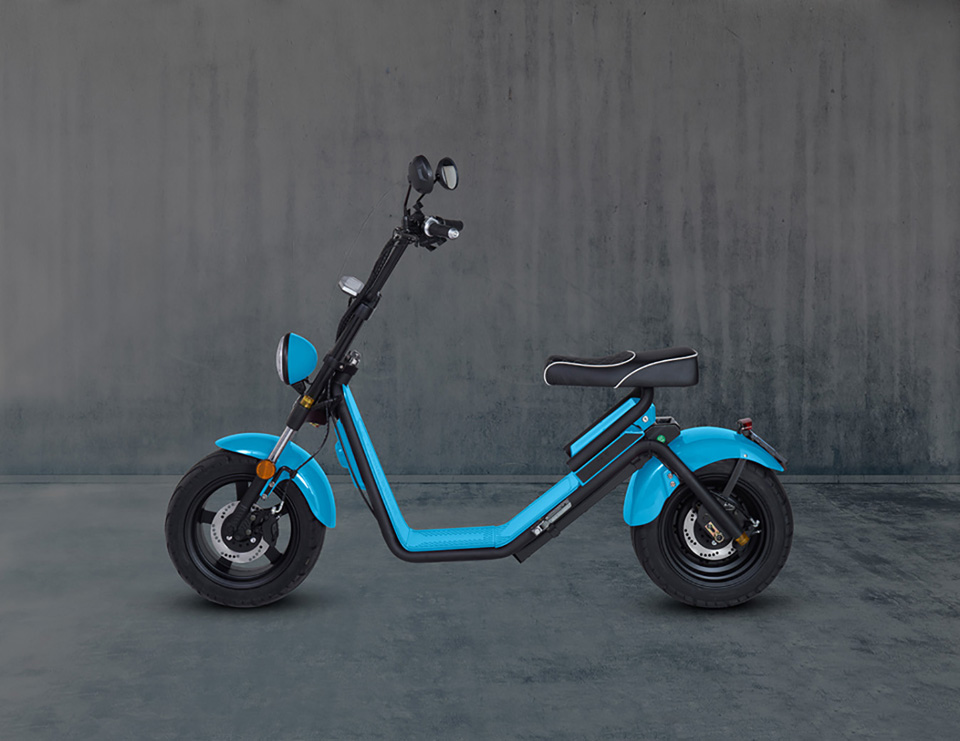 E-chopper Black Edition – Bright Blue